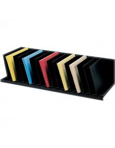 Sistema multiblocco Paperflow - Reggilibri con separatori fissi inclinati - nero - 4939.01