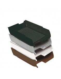Vaschetta portacorrispondenza Presbitero - 25,5x35,5x6,5 cm - grigio - X850002