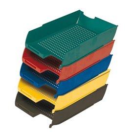 Vaschetta portacorrispondenza Presbitero - 25,5x35,5x6,5 cm - giallo - X850009