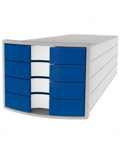 Cassettiere Impuls HAN - 28x36,7x23,5 cm - 4 cassetti - blu - 1012-14