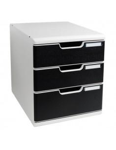Cassettiera MODULO A4 Exacompta - grigio/nero - 2+1 cassetti - 325014D