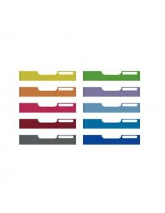 Frontali per Cassettiere Modulo A4 Exacompta - 10 colori assortiti - 5,4 cm - 336999D (conf.10)