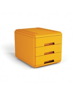 Mini cassettiera Arda - 17,7x25,4x17 cm - arancione - 3 cassetti - 19P3PAR