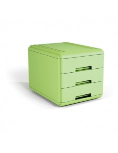 Mini cassettiera Arda - 17,7x25,4x17 cm - verde - 3 cassetti - 19P3PV