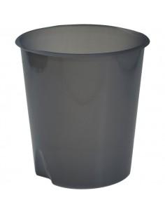 Cestino gettacarte Modula Leonardi - trasparente grigio fumè - E020TGF
