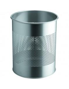 Cestino in metallo perforato Durable - argento - 3310-23