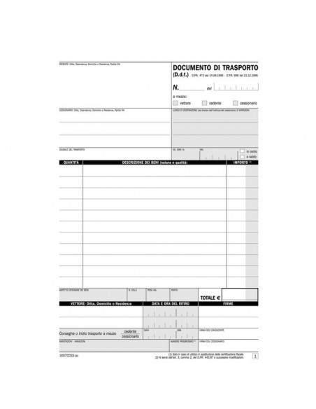 Blocco documenti di trasporto Semper Multiservice -carta chimica 3 parti - 33x3 fogli - SE1607CD330