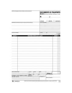 Blocco documenti di trasporto Semper Multiservice - carta chimica 4 parti - 25x4 - 210x297 mm - SEZL00610