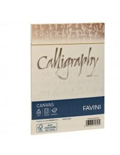 Calligraphy Canvas Ruvido Favini - bianco - 12x18 cm - 100 g - A570417 (conf.25)