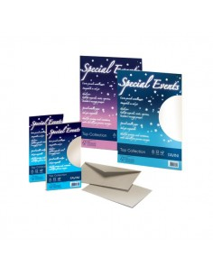 Carta e buste metallizzate Special Events Favini - sabbia - buste - 11X22 cm - 120 g/mq - A57N154 (conf.10)