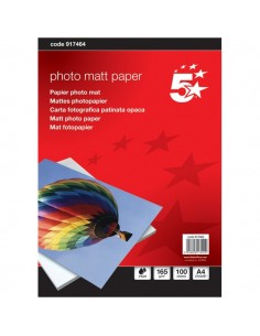 Carta fotografica 5 Star - Photo Matt - A4 - 165 g/mq - 917464 (conf.100)