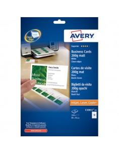 Biglietti da visita Quick&Clean™ Avery - Laser - bianco - 200 g/mq - C32011-25 (conf.250)