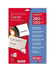 Biglietti da visita Decadry - laser/inkjet - angoli vivi - fronte/retro - 280 g - OCC3727 (conf.100)