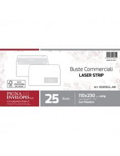 Buste per stampa laser con finestra Pigna - strip - 11x23 cm - 90 g - 0220922 (conf.25)