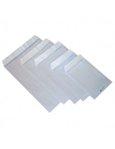 Buste a sacco con strip Pigna - bianco - 16x23 cm - 80 g/mq - strip - 0029463 (conf.500)