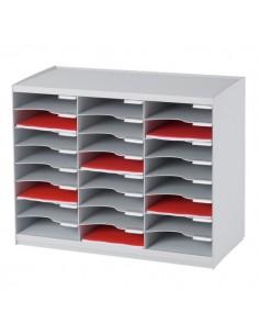 Sistema di smistamento corrispondenza Paperflow - 24 scomparti - grigio - 67,4x30,8x54,8 cm - 802.02