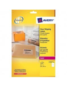 Etichette trasparenti QuickPEEL™ Avery - Laser - 210x297 mm - 1 et/ff - L7567-25 (conf.25)