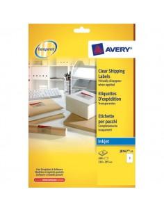 Etichette trasparenti QuickPEEL™ Avery - Inkjet - 210x297 mm - 1 et/ff - J8567-25 (conf.25)