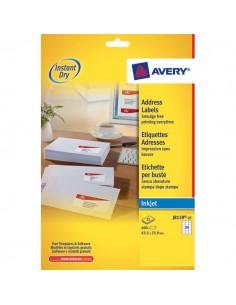 Etichette bianche QuickDry per indirizzi Avery - 63,5x33,9 mm - J8159-25 (conf.25)