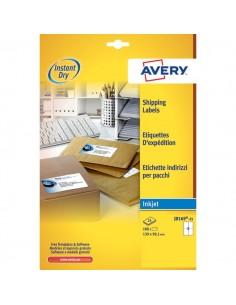 Etichette bianche QuickDry per indirizzi Avery - 99,1x139 mm - 4 et/ff - J8169-25 (conf.25)