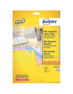 Mini etichette Avery - Laser - bianco - 38,1x21,2mm - 65 et/ff - L7651-25 (conf.25)