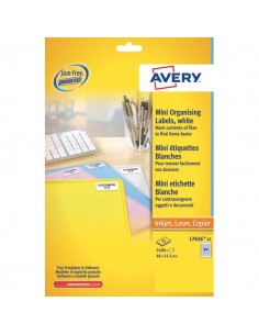 Mini etichette Avery - Laser - bianco- 38,1x21,2mm - 65 et/ff - L7651-100 (conf.100)