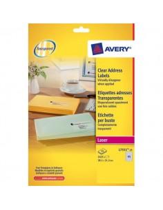 Mini etichette Avery - Laser - trasparente - 38,1x21,2 mm - 65 et/ff - L7551-25 (conf.25)