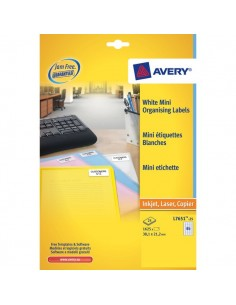 Mini etichette Avery - Laser - trasparente - 22x12,7 mm - 48 et/ff - L7553-25 (conf.25)