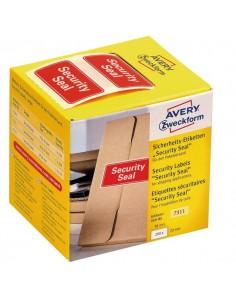 """Sigilli di sicurezza Avery """"Security Seal """"- 78x38 mm - 100 et/rotolo - rosso - 7310"""