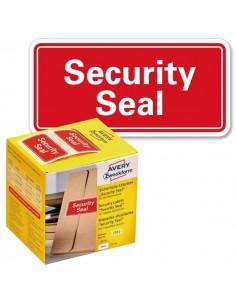 """Sigilli di sicurezza Avery """"Security Seal """"- diam. 38 mm - 125 et/rotolo - rosso - 7312"""