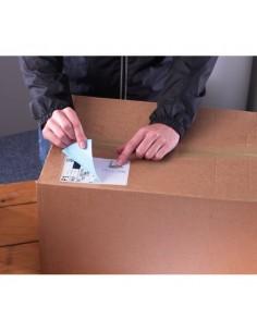 Etichette bianche ecologiche BlockOut™ x pacchi FSC Avery - 99,1x93,1 mm - 6 - L7166-100 (conf.100)
