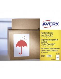 """Etichette in rotolo per spedizioni Avery - """"Teme Umidità"""" - 74x100mm - 200 - 7252"""