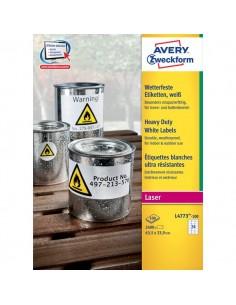 Etichette in poliestere Avery - laser - bianco - 63,5x33,9 mm - 24 - arrotondati - L4773-100 (conf.100)