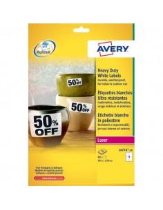 Etichette poliestere bianco Laser Avery - 99,1x139 mm - 4 - L4774-20 (conf.20)