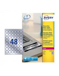 Etichette in PL giallo permanente Avery - laser - 99,1 x 42,3mm - et/ff 12 - L6107-20 (conf.20)