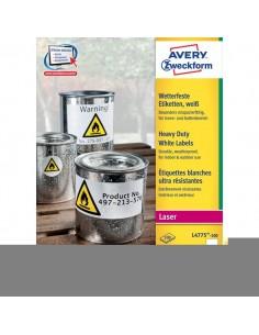 Etichette in poliestere Avery - laser - bianco - 210x297 mm - 1 - vivi - L4775-100 (conf.100)