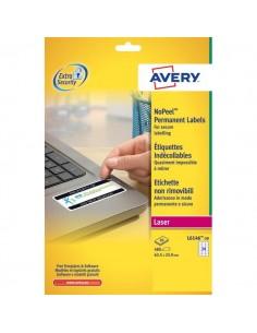 Etichette in poliestere Non Rimovibili per Laser Avery - 63,5x33,9 mm - 24 - L6146-20 (conf.20)