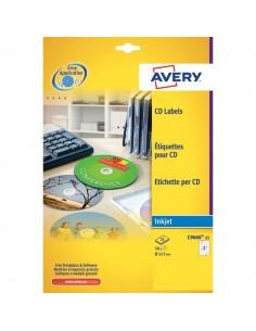 Etichette Full-Face CD Avery per stampanti Inkjet - bianco pat.lucido - 2 et/ff - C9660-25 (conf.25)