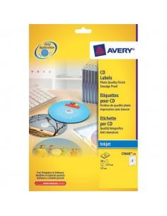Etichette Full-Face CD Avery per stampanti Laser - bianco - 2 et/ff - L7676-25 (conf.25)