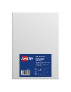 Etichette A3 carta bianca Avery - da -5°C a +60°C - 297x420 mm - A3L001-10 (conf.10)