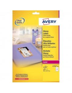 Etichette glossy per stampanti laser a colori Avery - 99,1x67,7 mm - 8 et/ff - L7765-40 (conf.40)