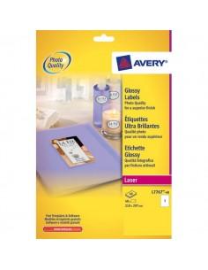 Etichette glossy per stampanti laser a colori Avery - 209x295 mm - 1 et/ff - L7767-40 (conf.40)