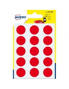 Etichette rotonde in bustina Avery - rosso - diam. 19 mm - 15 - PSA19R (conf.6)