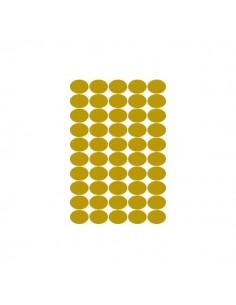 conf. 100 Etichette satinate oro ovali - 36x27 Tico GL4-3627