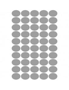 Etichette satinate argent ovali 36x27 Tico SL4-3627 (conf 100)