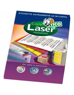 Etichette Copy Laser Prem.Tico fluo Las/Ink/Fot s/margini 210x297mm giallo - LP4FG-210297 (conf.70)