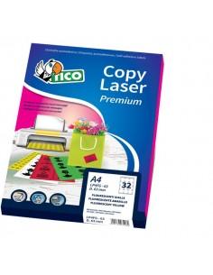 Etichette Copy Laser Prem.Tico fluo Las/Ink/Fot s/margini 210x297mm rosso - LP4FR-210297 (conf.70)