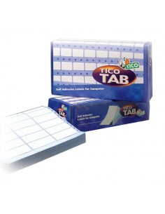 Etichette modulo continuo Tico - 1 pista - 89x36,2 mm - 8 et/ff - TAB1-0893 (conf.500)