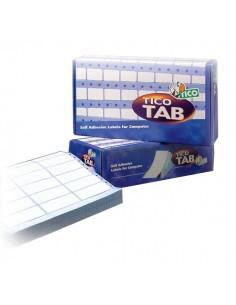 Etichette modulo continuo Tico - 1 pista - 107x74 mm - 4 et/ff - TAB1-1077 (conf.500)