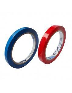 Nastro adesivo per chiusura sacchetti Syleco Syrom - 12 mm x 66 m - rosso - 3158 (conf.12)